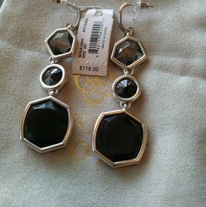 A brand new set of earrings in silver